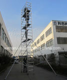 Le GV a reconnu l'échafaudage en aluminium de mobile de 9m pour la maintenance