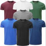 T-shirt prérétréci par vente en gros ordinaire de coton pour les hommes