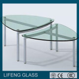 Tempered Shaped Glass, Furniture Glass avec Polished Edge pour Table Glass