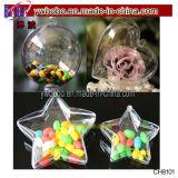 Ornement en plastique d'espace libre de décoration de babiole de boîte à sucrerie de Fillable d'arbre de Noël de Noël (CH8101)