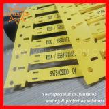 Het permanente Etiket van de Teller van de Kabel van de Identificatie Plastic
