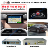 Interface de vídeo do sistema de navegação Android do carro para Mazda Cx-9, Upgrade Touch Navigation, HD 1080P, Google Map, Play Stor