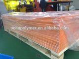Feuille rigide grisâtre haut lustrée personnalisée de PVC de taille de la couleur 4*8