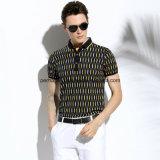 고품질 여위는 인쇄 빈 남자 폴로 셔츠 스포츠 착용