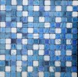 Material de construcción de pulido del azulejo Mosaico de vidrio para baño Azulejo (FYSCL05A)