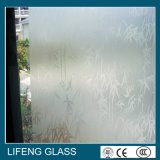 ゆとりか着色された砂を吹き付けられたガラスAcid-Etchedガラス