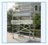 安全なセリウムは装飾のための自己の上昇のアルミニウム足場を承認した