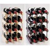 Hogar de cristal de la visualización de la decoración de madera de la cocina del almacenaje de la barra del sostenedor del estante del vino de 12 botellas nuevo