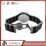 Montre-bracelet de sport de Madame acier inoxydable avec la glace minérale