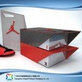 Gewölbtes Papier-Fach-Verpackungs-Geschenk-Kleid-Kleidung-Schuh-Kasten (xc-aps-012b)