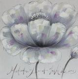 Peinture à l'huile peinte à la main de type de l'Europe de beauté de toile simple de fleur