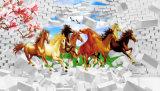 3D Lopende Digitale Afgedrukte Olieverfschilderij van Paarden voor de Decoratie van het Huis