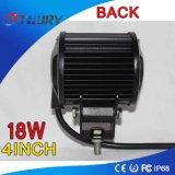 CREE 18W 4inch 4WD lámpara auto de la luz del trabajo del LED