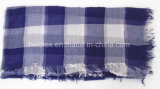 Klassische Tartan-Entwurfs-Farbe verwobener dünner Baumwollquadrat-Schal (HWBC45)