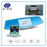 Magnetoscopio dell'automobile blu da 4.3 pollici con grandangolare