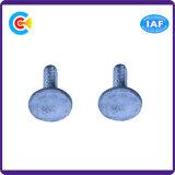 Aço de carbono 4.8 / 8.8 / 10.9 Parafusos de fixação de plástico personalizados com cabeça galvanizada / M6