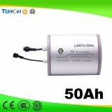 Batería recargable de 11.1 voltios de alta calidad 50AH de almacenamiento solar de ciclo profundo de litio
