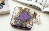 Zipper Tassel Color Snake Small Purse (BDMC149)