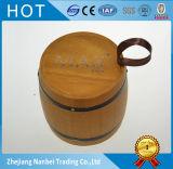 Het douane Gegraveerde Vat van de Boon van de Koffie van het Embleem Houten met Zwarte Hoepels