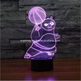 귀여운 3D Kongfu 판다 센서 통제 LED 밤 빛