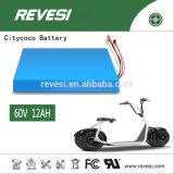 60V 12ah Citycoco Batería de Litio para 2 Rueda de bicicleta eléctrica / moto / motocicleta