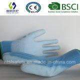 Верхней части PU ESD перчатка Nylon подходящая (SL-PU201B2)