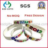 Wristband de borracha fino do silicone do bracelete da forma relativa à promoção feita sob encomenda para o partido