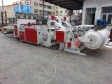 Automatische drei Zeilen Plastikshirt-Beutel, der Maschinen herstellt
