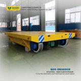 Carretilla eléctrica del transporte con el carrete de cable que maneja los materiales