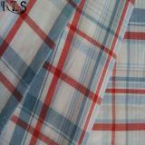 El hilado tejido 100% del popelín de algodón teñió la tela para las camisas/alineada Rls40-47po