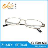 Lunettes de lunettes à lunette de lunettes de titane à crémaillère design (9309)
