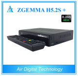 Zgemma initial H5.2s plus le cadre de TV satellite de DVB-S2+DVB-S2/S2X/T2/C Hevc H. 265