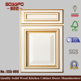 Porte d'oscillation en bois de Module de cuisine de peinture blanche de nouveau produit (GSP5-005)