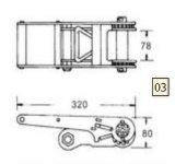 """Размер 3 """" B/S Webbing пряжки храповика: 10000kg"""