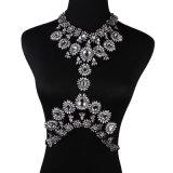 ファッション・デザイナーの多彩なラインストーンの水晶ダイヤモンドの花のチョークバルブボディ宝石類