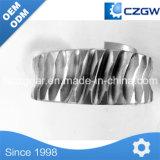 Engranaje cónico espiral recto helicoidal del acero inoxidable de la alta precisión