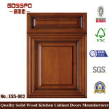 標準的なデザイン固体マホガニーの木製の食器棚のドア(GSP5-002)