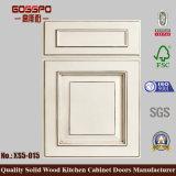 白いペンキの木の食器棚のドア(GSP5-005)
