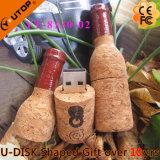 USB Pendrive da madeira da cortiça do vinho vermelho para os presentes bebendo (YT-8130)