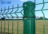 고품질 PVC에 의하여 입히는 직류 전기를 통한 철 철사 메시 담
