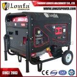 Générateur d'essence silencieux 15 pouces 7,5 kVA (silencieux semi-fermé, démarrage électrique)