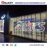 Transparent P3.75/P5/P7.5/P10/P16/P20 d'intérieur fixe/glace/écran de visualisation mur de guichet/rideau DEL/signe visuels pour la publicité