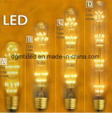 Vela LED de los ses LED vela ligera de la bombilla Nueva lámpara moderna del vidrio manchado E27 LED Lámpara pintada artificial