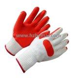 Gants en bois de main de sûreté d'industrie de gants en caoutchouc de construction