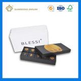 Mond-Kuchen-Paket-Kasten mit innerem Tellersegment (Luxuxpapiermaterial)