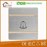 Interruttore spazzolato del campanello per porte di alta qualità dell'acciaio inossidabile