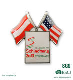 Kundenspezifischer Metall gedruckter Harz-Markierungsfahnen-ReversPin für Geschenk (W-22)