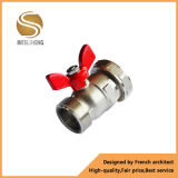 Válvula de gas de cobre amarillo con la maneta