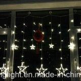 2mの屋外の使用のためのメモリの12大きい星が付いている138LEDsカーテンライト