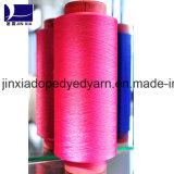 fils de polyesters teints par dopant de filé de filament de 400d/96f DTY